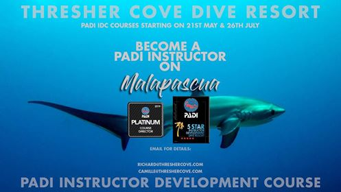 Next PADI IDC on Malapascua starts 21st May 2019