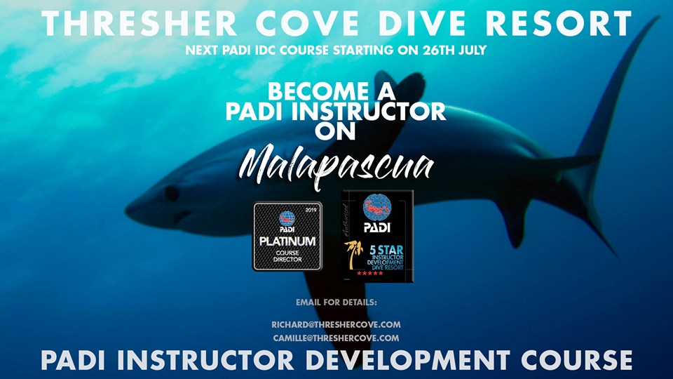 Next PADI IDC starts 26th July 2019 on Malapascua