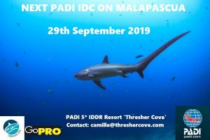 Next PADI IDC starts 29th September 2019 on Malapascua