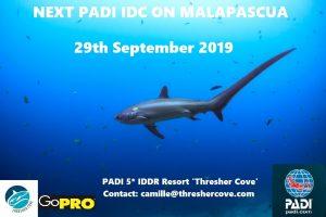 Next PADI IDC starts 29th September 2019 on Malapascua