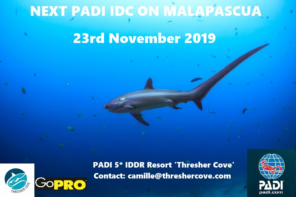 Next PADI IDC starts 23rd November 2019 on Malapascua